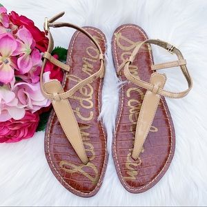 Sam Edelman Gigi T-Strap Sandals Size 7.5 $70